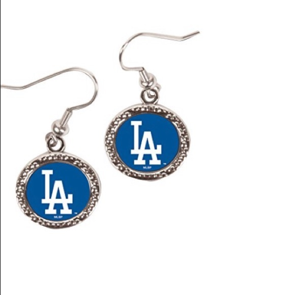 MLB Los Angeles Dodgers Round Earrings, Large
